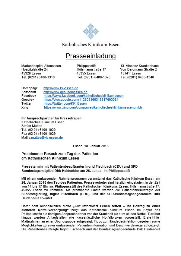 Pressemitteilung Katholisches Klinikum Essen