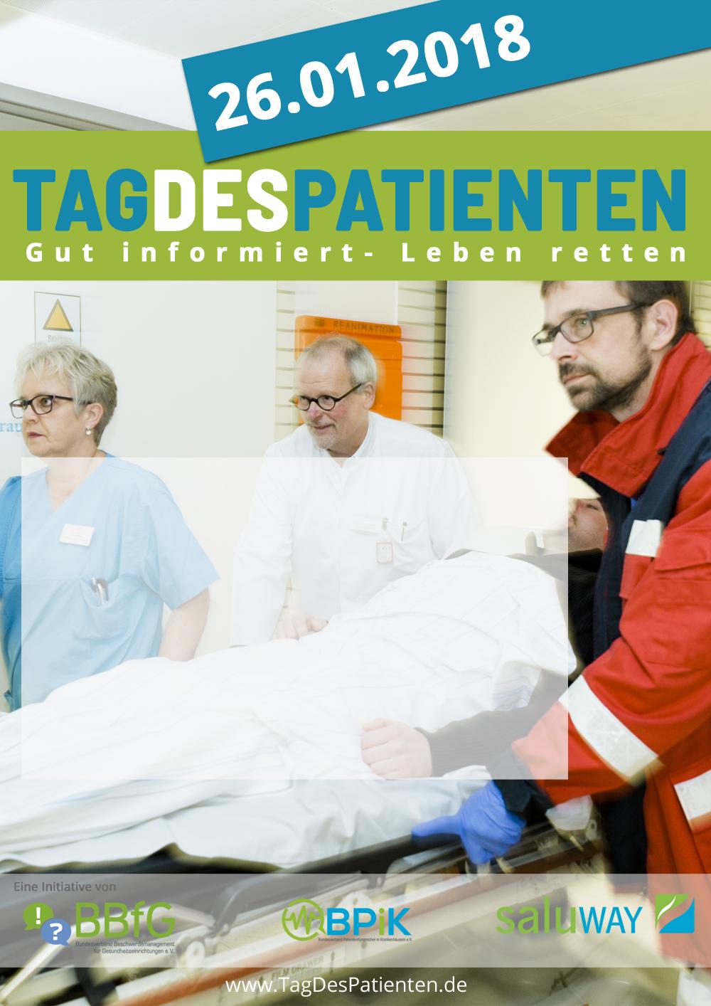 Tag des Patienten 2018 Plakatvorlage